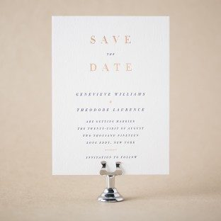 Theon foil + letterpress save the dates from Bella Figura