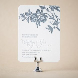 Tristan letterpress save the dates from Bella Figura