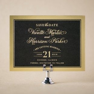 Viviette foil save the dates from Bella Figura