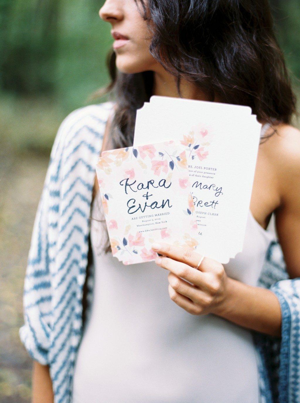 Blossom wedding invitations by Lindsy Talarico for Bella Figura