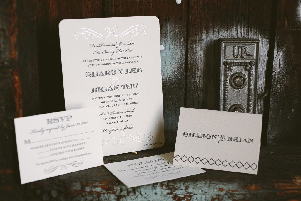 deco wedding invitations from Bella Figura