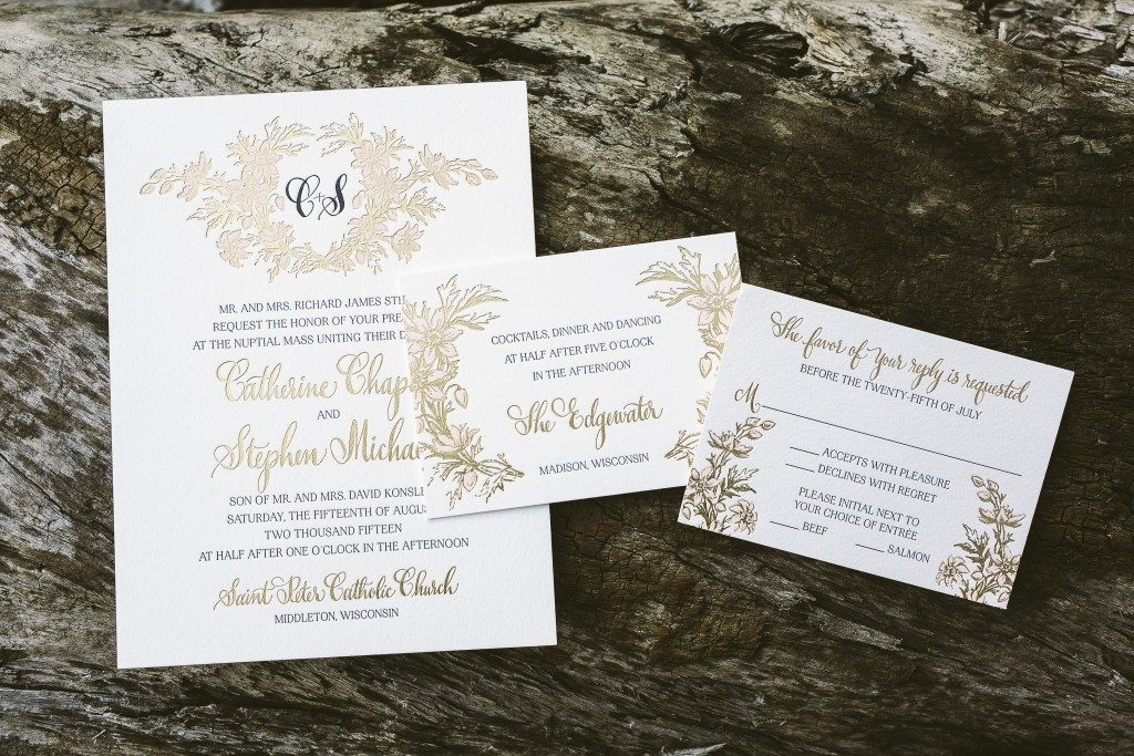 enchanting floral wedding invitations from Bella Figura