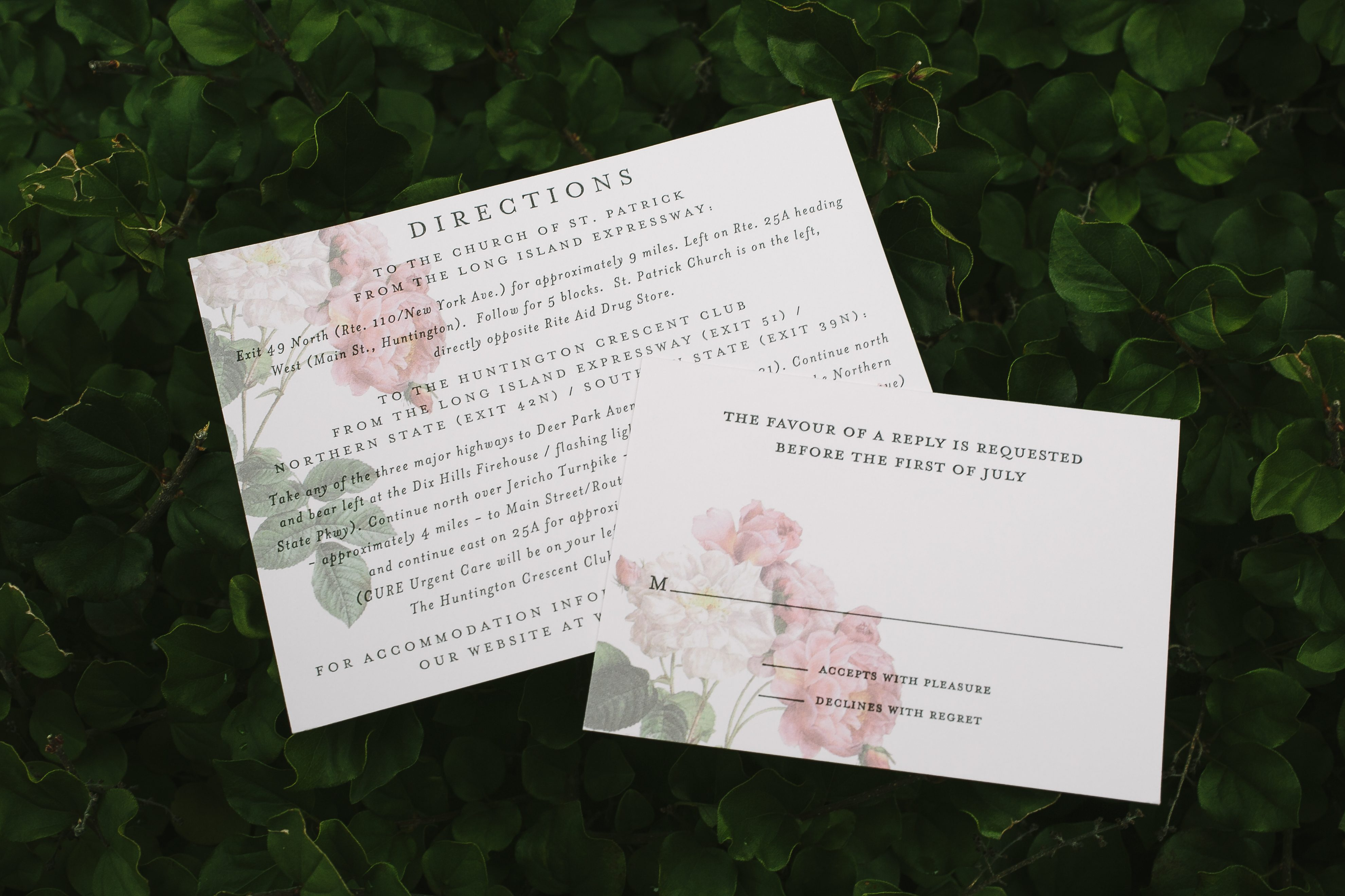 Garden Wedding Invitations: Romantic Floral + Foil Garden Wedding Invitations