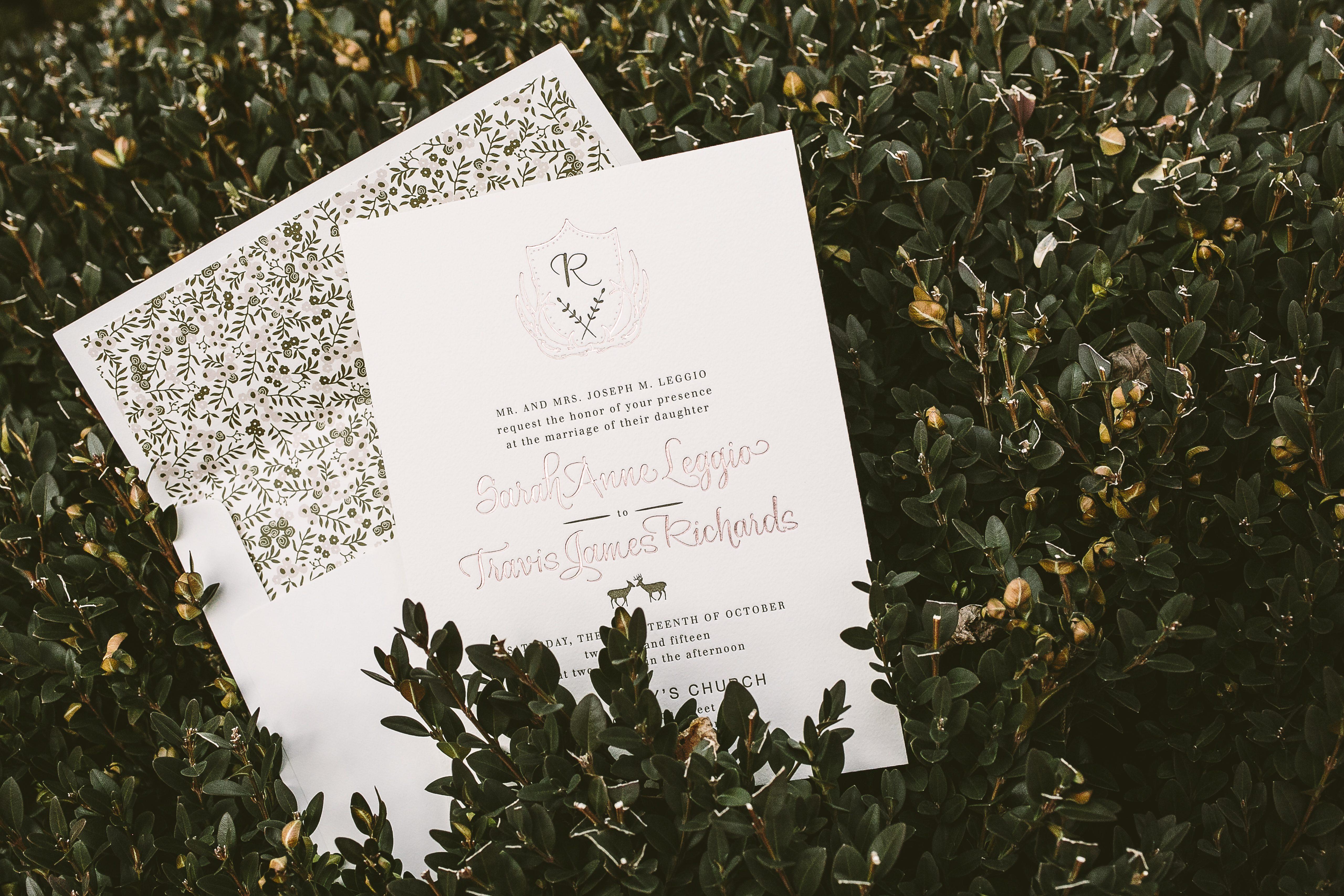 rustic Woodland wedding invitations - Bella Figura