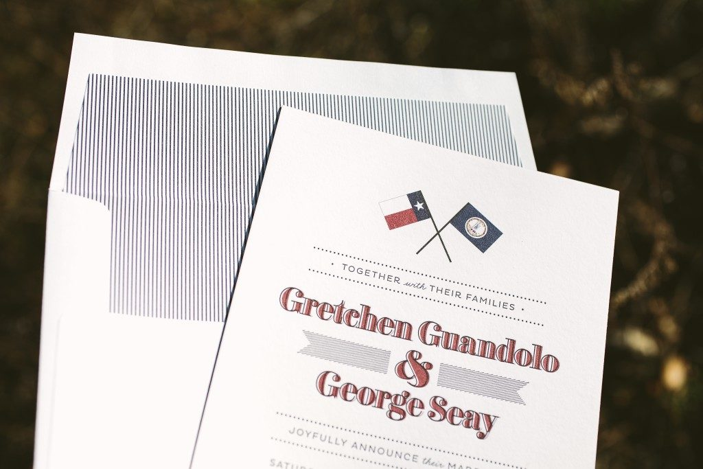 custom fanfare letterpress wedding announcements | Bella Figura