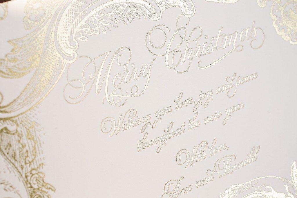 Rococo Elegance gold foil Christmas cards | Bella Figura