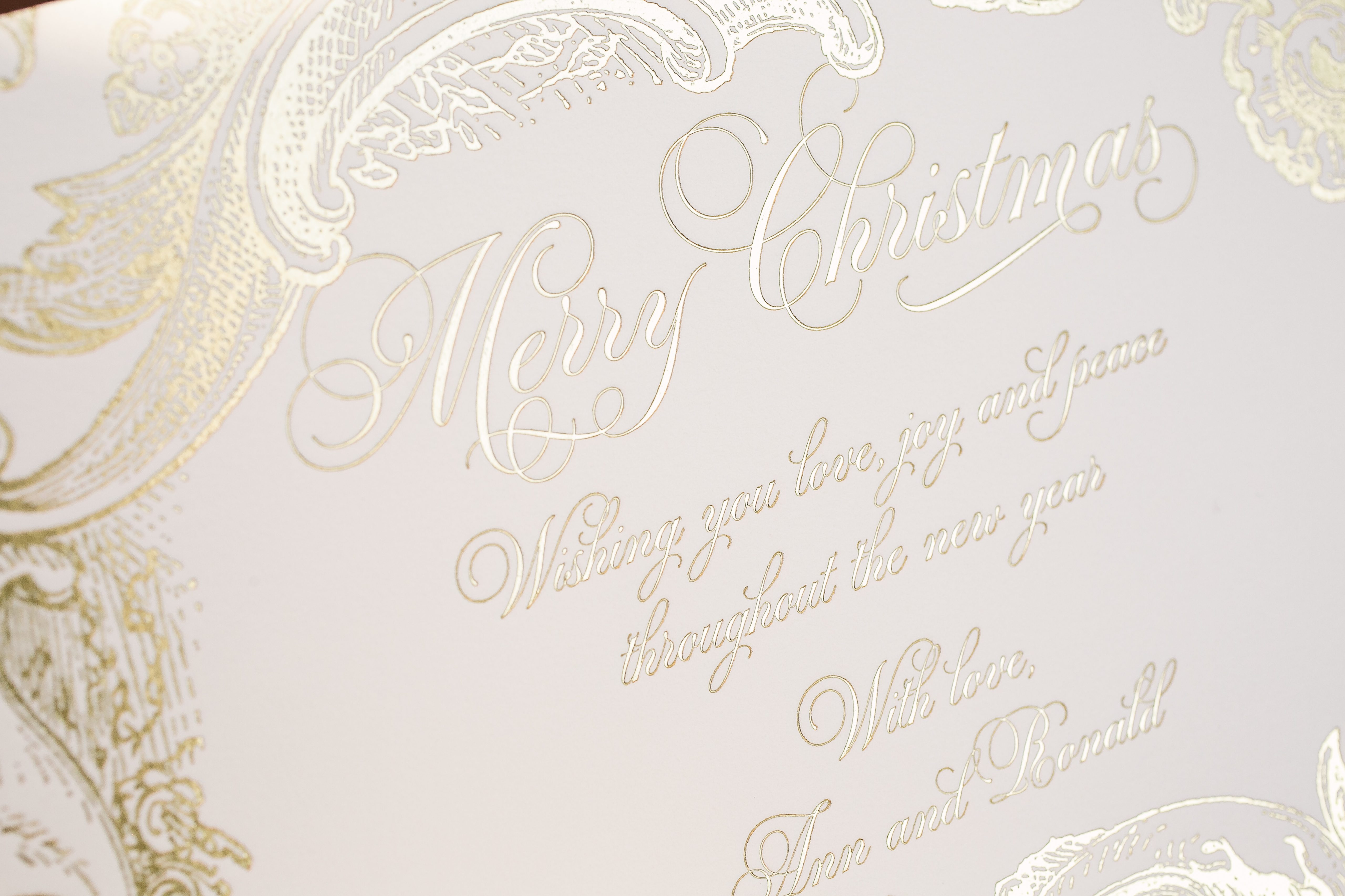 rococo elegance gold foil christmas cards bella figura - Foil Christmas Cards