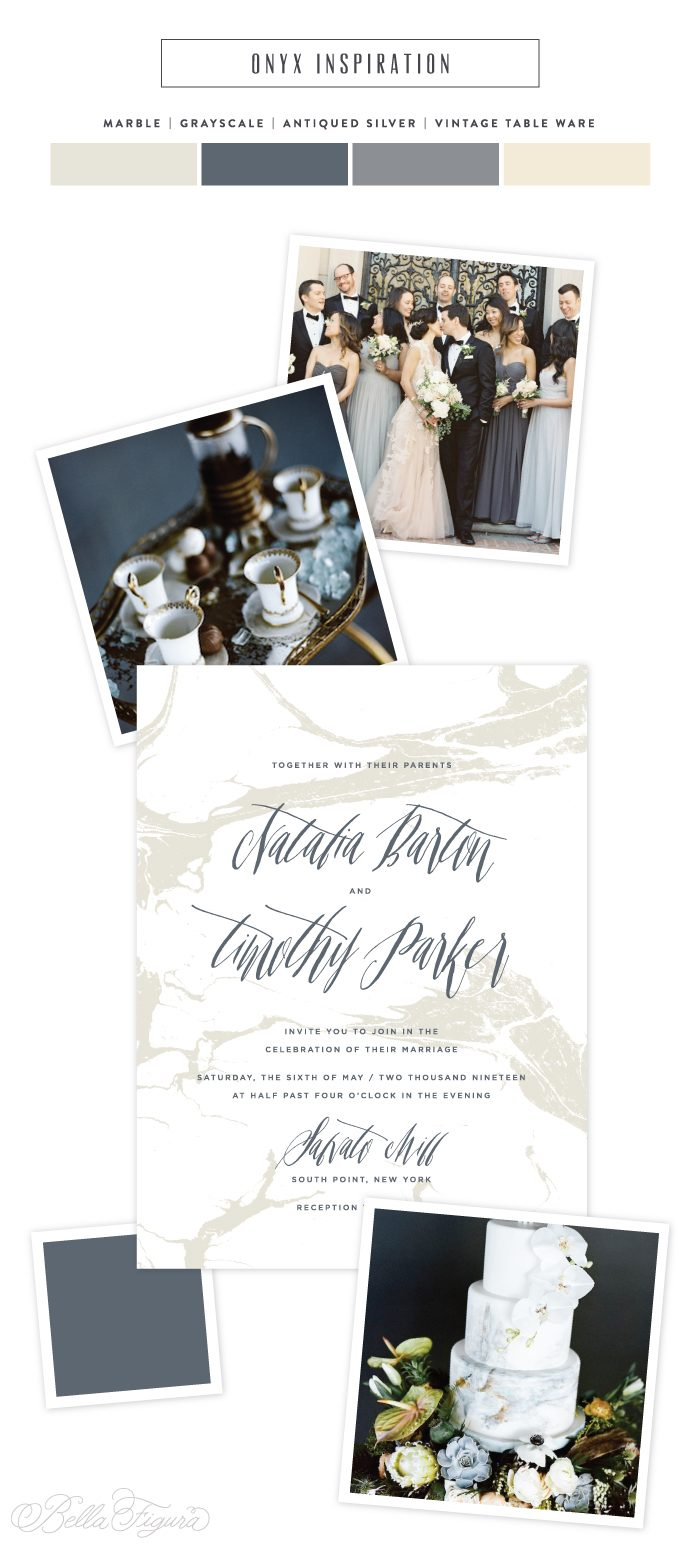 Modern Marble wedding invitation inspiration by Bella Figura