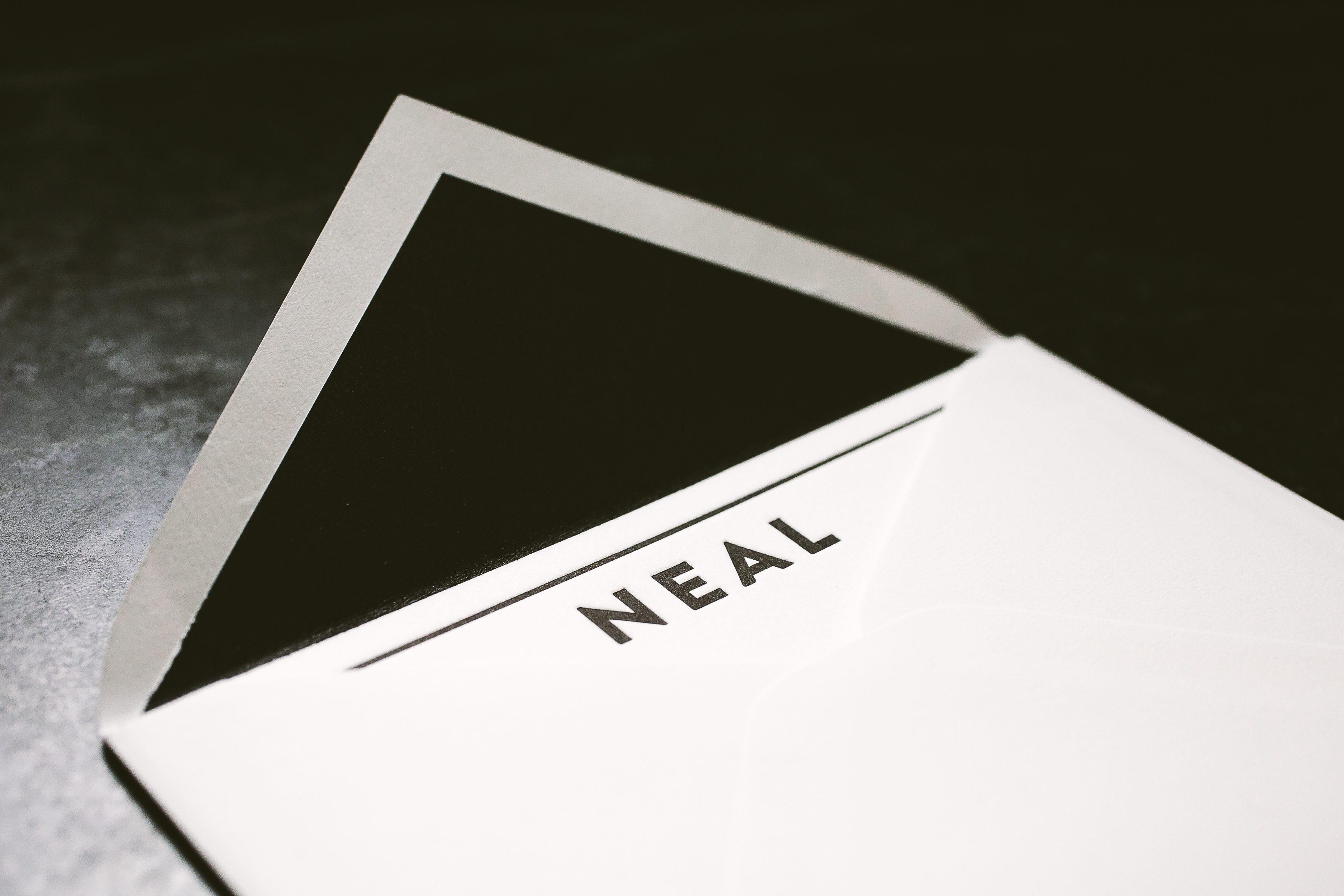 modern black letterpress personal stationery bella figura