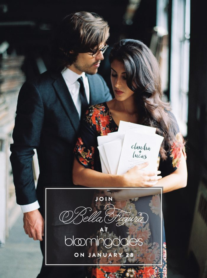 Join Bella Figura at the Bloomingale's wedding party on January 28, 2016!