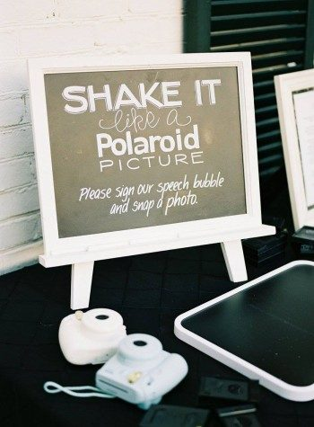 Modern polaroid wedding guest book