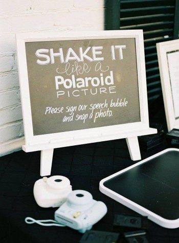 Modern polaroid wedding guest book