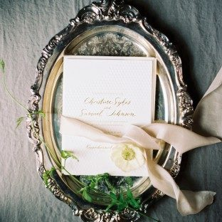 Sweet Christine wedding invitations from Bella Figura