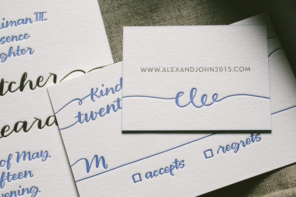 Beach wedding invitations with island-inspired envelope liner | Bella Figura