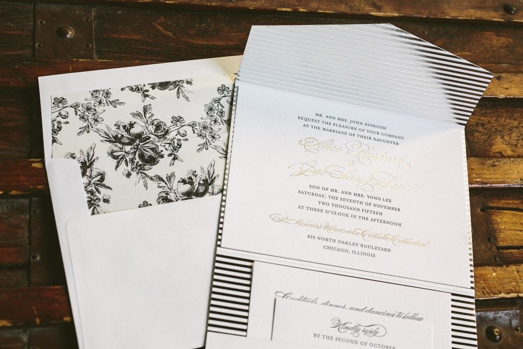 classic with a twist: modern meets traditional wedding invitations from Bella Figura