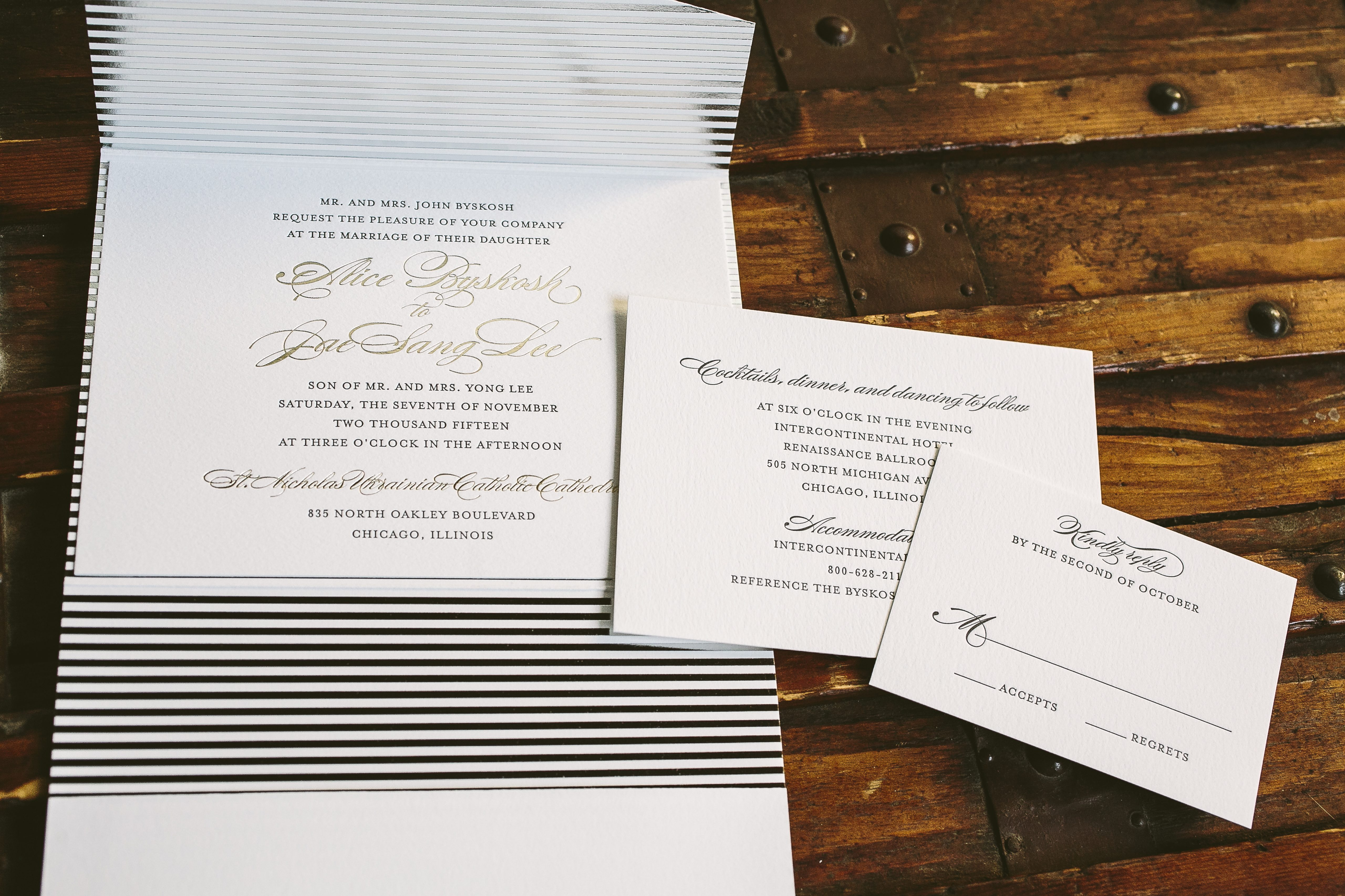 classic with a twist: modern meets traditional wedding invitations ...