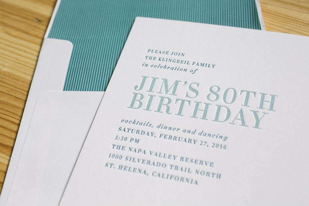 simple and elegant invitation for wine country birthday celebration from Bella Figura