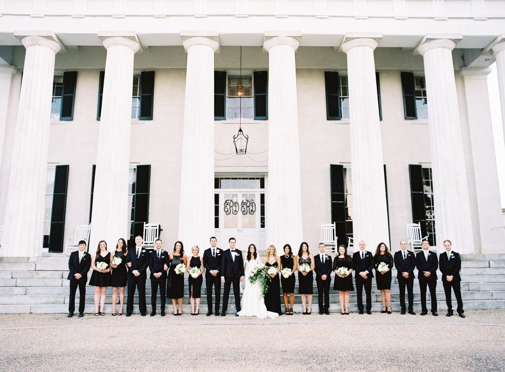 Timeless black and white wedding at Berry Hill resort