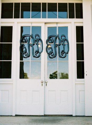 Classic Southern monogram wedding decor
