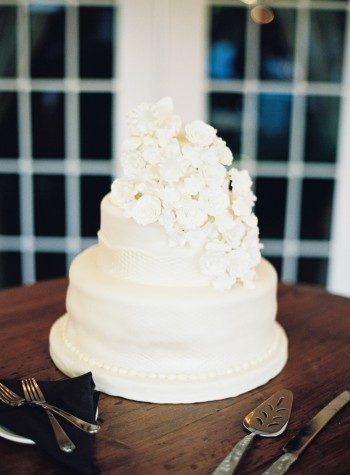 White floral wedding cake by Edible Art