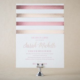 Sweet Henriette Bat Mitzvah invitations from Bella Figura