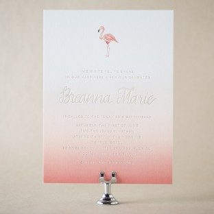Tulum Bat Mitzvah invitations from Bella Figura