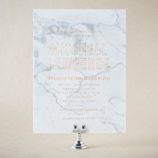 Vigo Bar Mitzvah invitations from Bella Figura