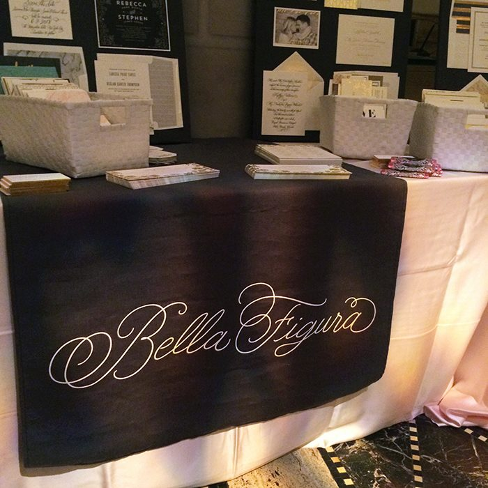 Bella Figura designs on display at the 2016 Martha Stewart Wedding Party