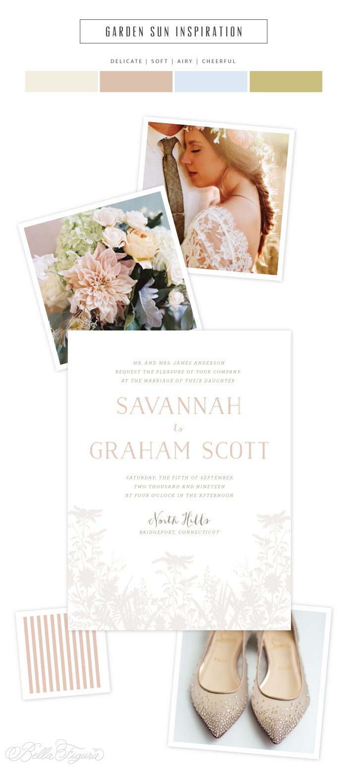 DELICATE GARDEN WEDDING INVITATION INSPIRATION | BELLA FIGURA
