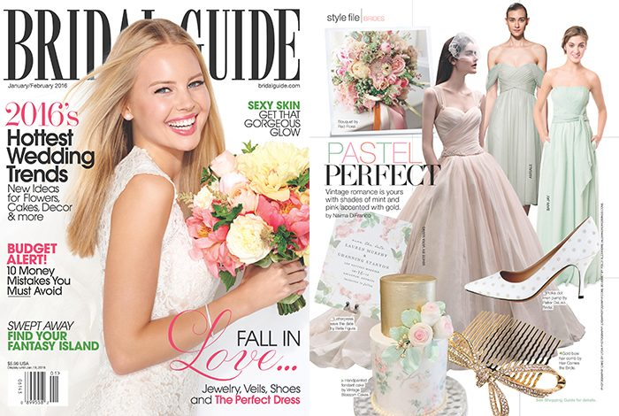 Maravilla save the dates by Jessica Tierney for Bella Figura featured by Bridal Guide magazine