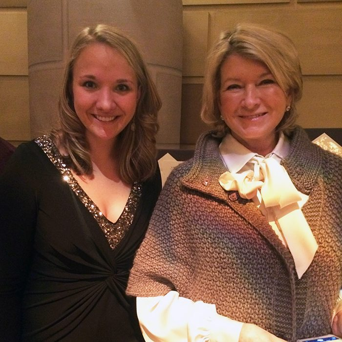 Bella Figura's marketing manager Erica Henriksen with Martha Stewart at the 2016 Martha Stewart Wedding Party