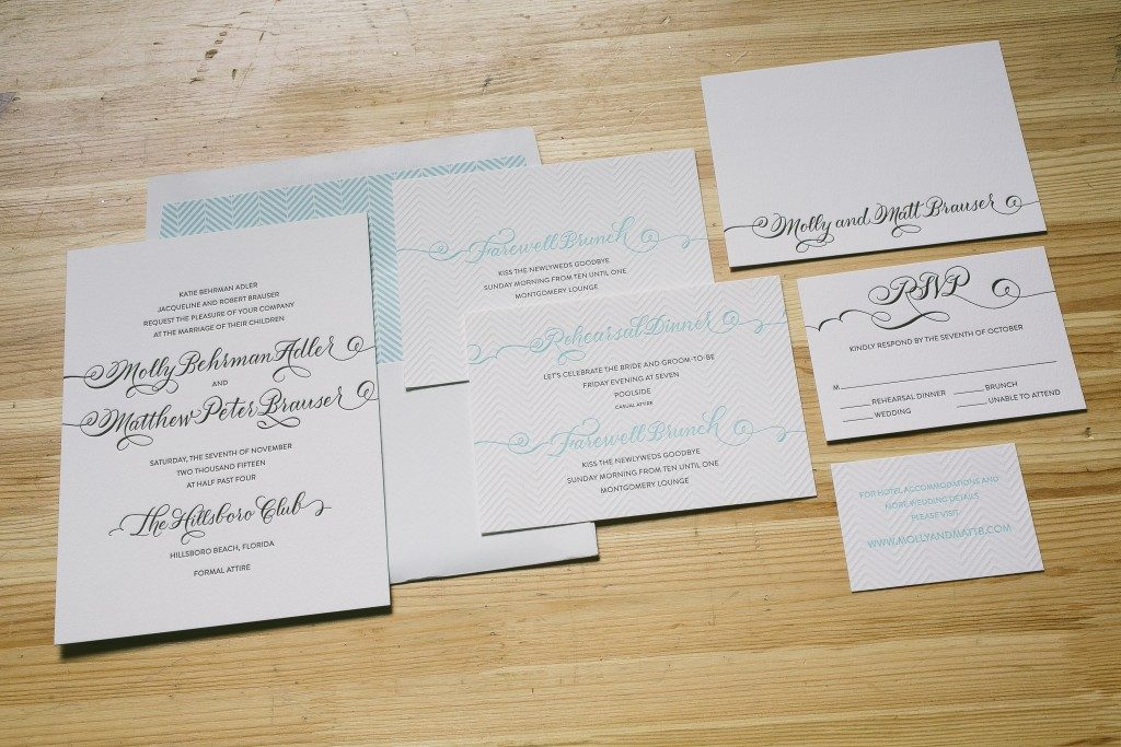 Modern beach wedding invitations  | Bella Figura