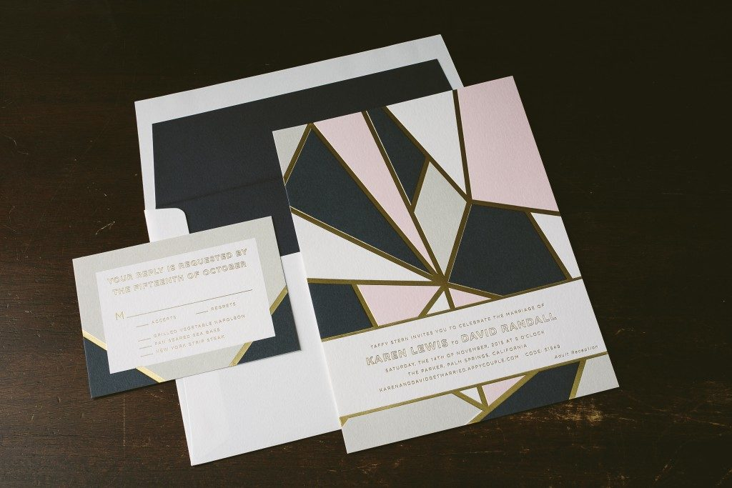 modern geometric wedding invitations | Bella Figura