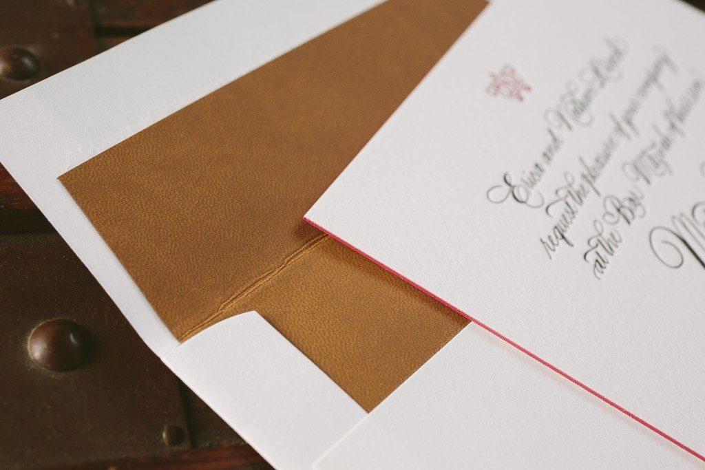 Hand calligraphed elegant Bar Mitzvah invitations from Bella Figura