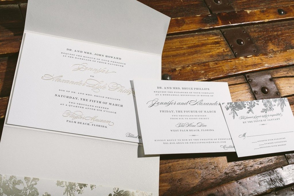 tawny and gray floral wedding invitations | Bella Figura