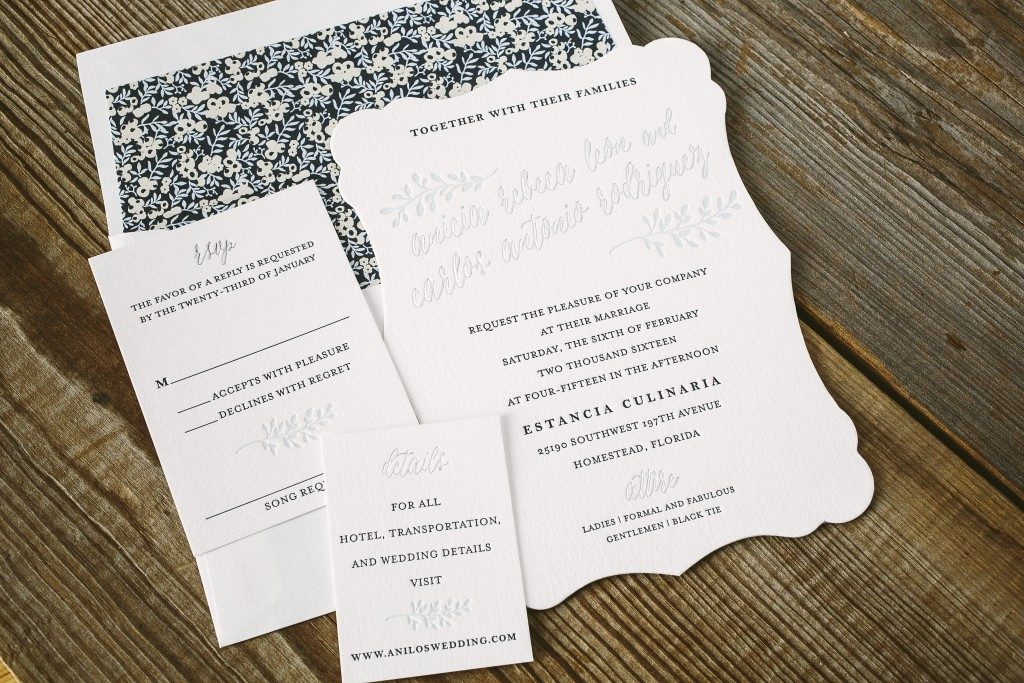 Belsay: rustic and elegant wedding invitations from Bella Figura