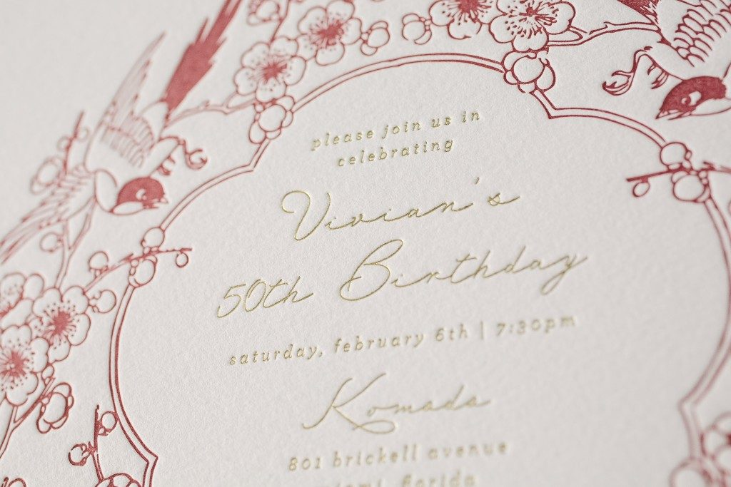 Asian inspired birthday invitations | Bella Figura