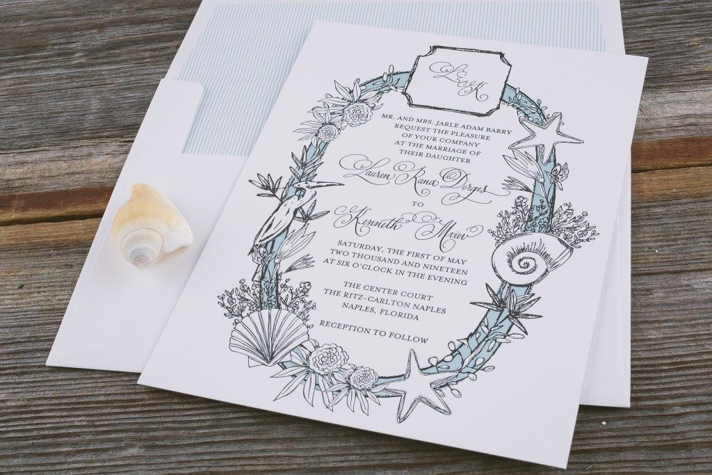 Makri - Beach wedding invitations from Bella Figura