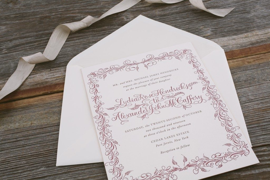 Heatherly - Vintage wedding invitations from Bella Figura