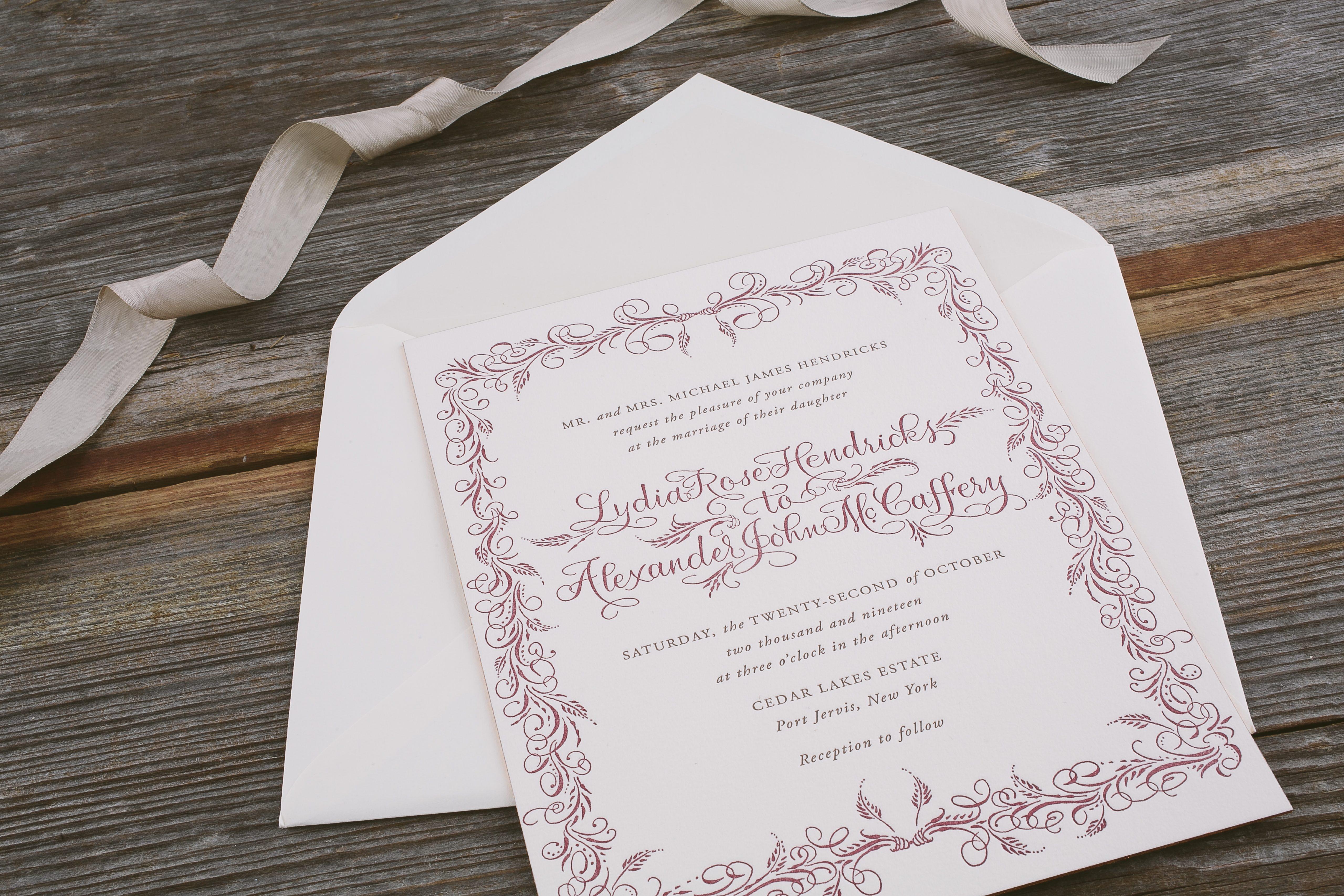 A Calligraphy Invitation Style for Every Wedding - Bella Figura