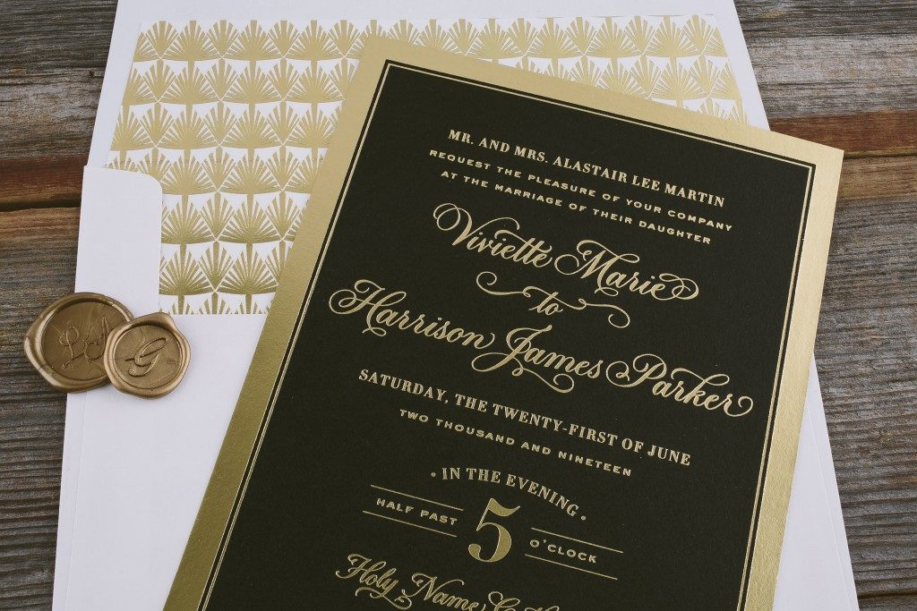Formal wedding invitations from Bella Figura