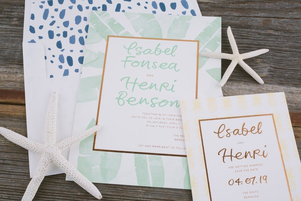 Destination wedding invitations from Bella Figura