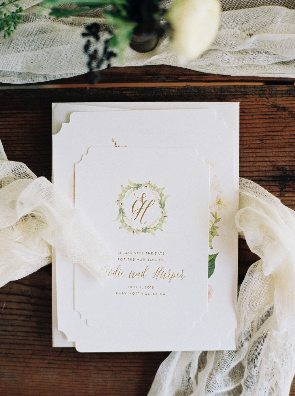 Josephine wedding invitations from Bella Figura