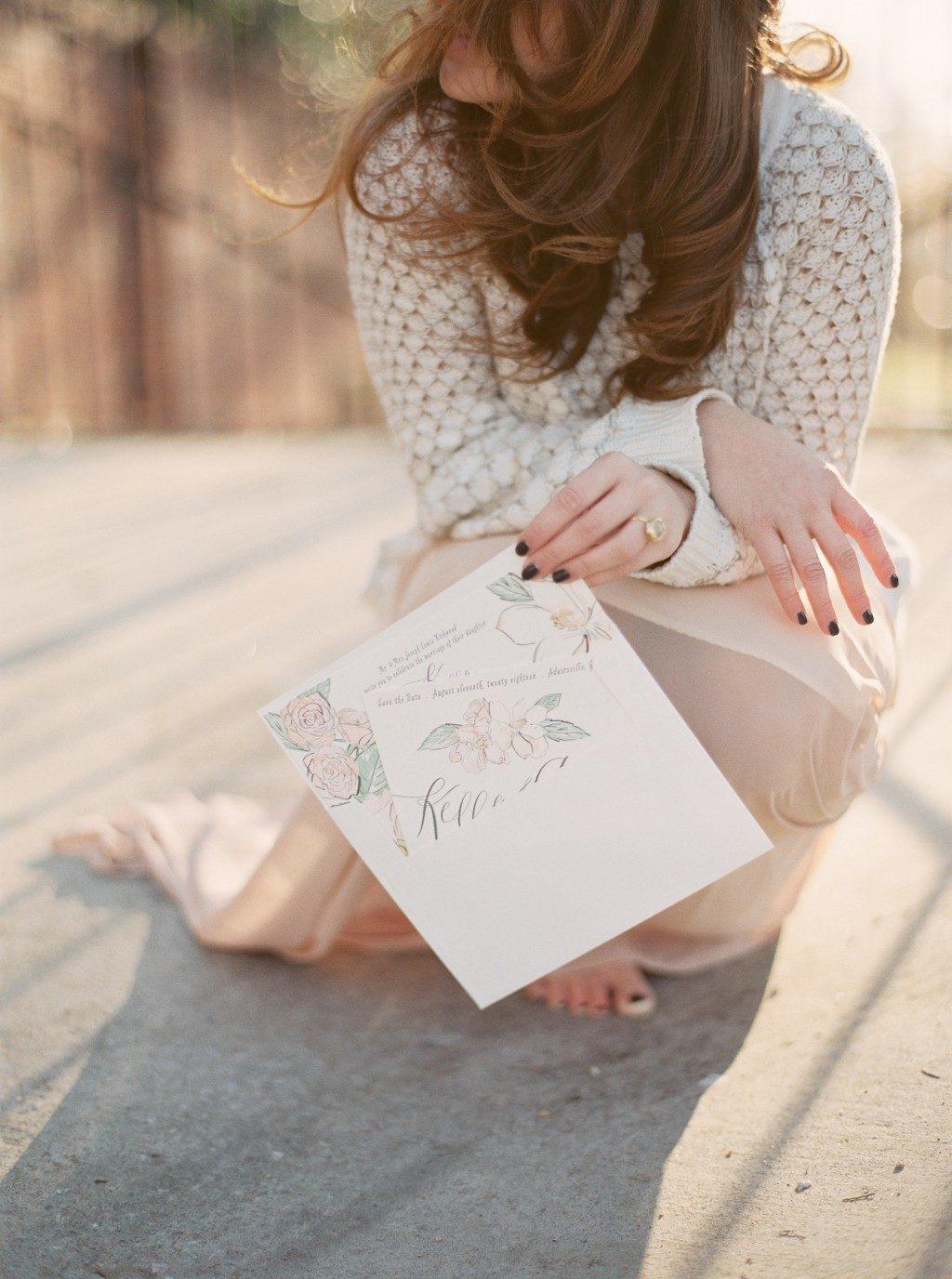 English Garden wedding invitations by Chelsea Petaja for Bella Figura