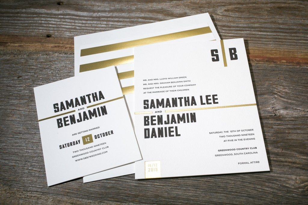 Hemsworth wedding invitations by Kyle Laatsch for Bella Figura