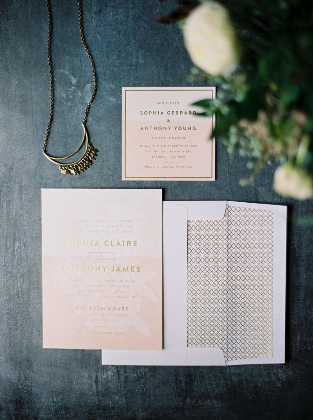 Lark wedding invitations by Jessica Tierney for Bella Figura