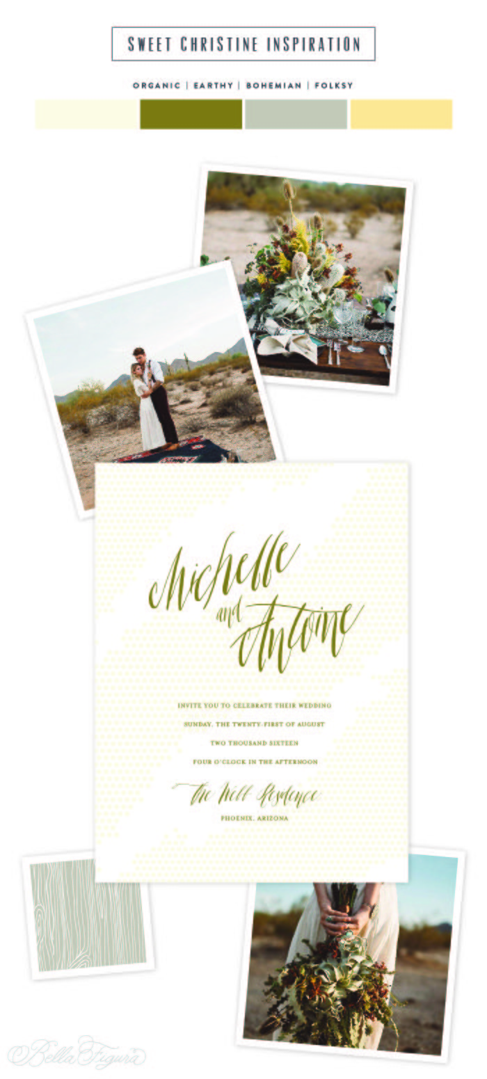 Desert wedding invitation inspiration | Bella Figura
