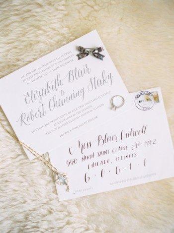 Calligraphy wedding invitations from Bella Figura