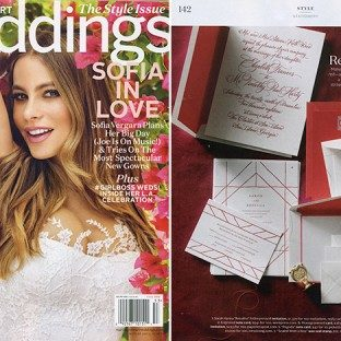 Bella Figura featured in the Fall 2015 issue of Martha Stewart Weddings