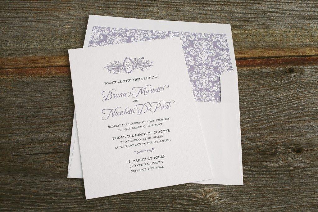 romantic blue and purple wedding invitations | Bella Figura